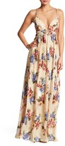 Free People Shadows Silk Blend Gown
