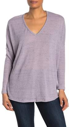 Susina Cozy V-Neck Drop Shoulder Sweater