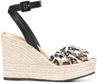 Giuseppe Zanotti Leopard-Print Platform Wedge Sandals