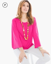Chico's Flare-Sleeve Linen Top