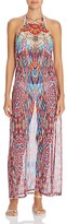 Laundry by Shelli Segal Halter Maxi Dress Swim Cover-Up