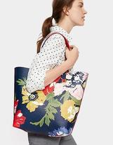 Joules Revery Print Reversible Shoulder Bag in French Navy Posy in One Size
