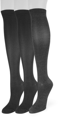 Sonoma Goods For Life Women's 3-Pack Soft & Comfortable Knee-High Socks