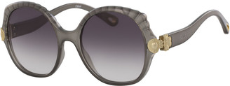 Chloé Scalloped Round Plastic Sunglasses
