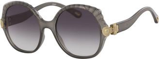 Chloé Scalloped Round Plastic Sunglasses