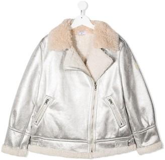 MonnaLisa TEEN zipped biker jacket