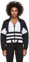 adidas Black and White Large Logo Track Jacket