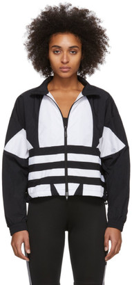 adidas Black and White Large Logo Track Jacket