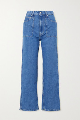 Helmut Lang Factory Cropped High-rise Straight-leg Jeans - Mid denim