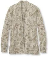 L.L. Bean Women's Premium Supima Cotton Sweater, Open Cardigan Floral