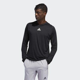 adidas FreeLift 3-Stripes Hooded Tee