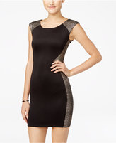 Amy Byer Juniors' Textured-Trim Bodycon Dress