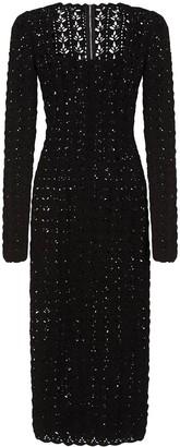 Dolce & Gabbana Square-Neck Pointelle-Knit Dress