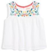 Infant Girl's Peek Gigi Embroidered Top