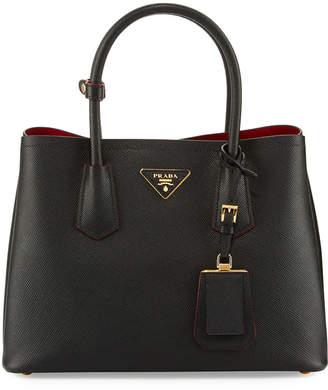 Prada Saffiano Cuir Double Small Tote Bag