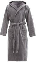 Schiesser - Hooded Cotton Terry Robe - Mens - Grey