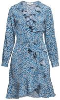 Rumour London Abby Ruffled Silk Wrap Dress With Cherry Blossom Print