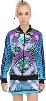 Adidas Originals By Mary Katrantzou Printed Techno Jersey Bomber Jacket