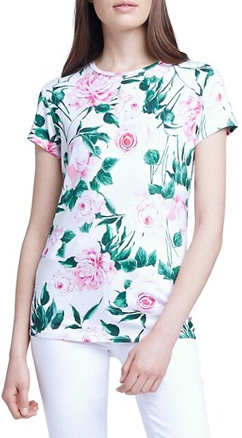 Thumbnail for your product : L'Agence Ressi Short Sleeve Crewneck T-Shirt