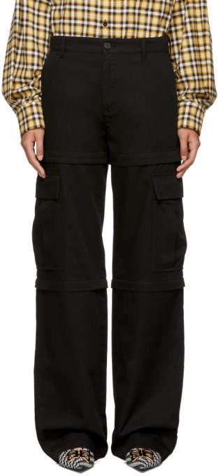 Balenciaga Black New Zip Cargo Pants