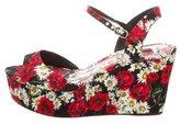 Dolce & Gabbana Floral Platform Wedges