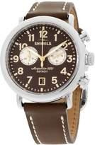 Shinola Men's The Runwell 41mm Leather Band Steel Case Quartz Watch 20044132