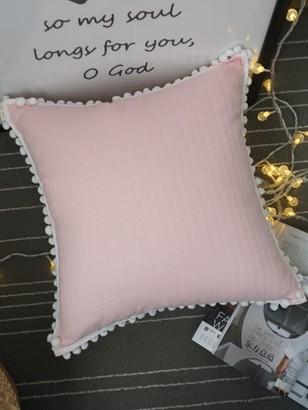 Goodnight Macaroon 'Camy' Pom Pom Trim Cushion Cover (3 Colors)