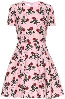 Valentino floral silk and wool-blend dress