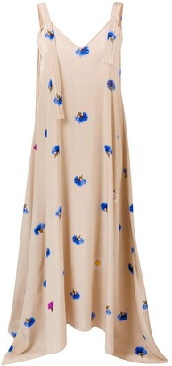 Natasha Zinko Floral Maxi Slip Dress