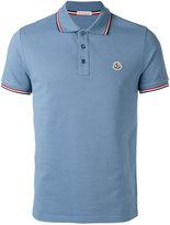 Moncler striped trim polo shirt - men - Cotton - L