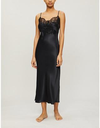 Marjolaine Gemma silk-satin night dress
