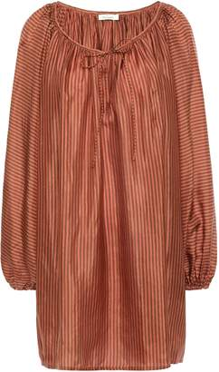 Mes Demoiselles Persee Gathered Striped Silk-habotai Blouse