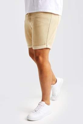 boohoo Big And Tall Slim Fit Corduroy Shorts