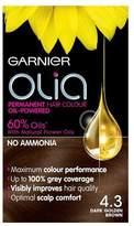 Garnier Olia 4.3 Dark Golden Brown Permanent Hair Dye