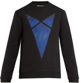 Raf Simons Arrow-print cotton-jersey sweatshirt