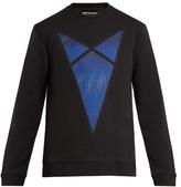 Raf Simons Arrow-print Cotton-jersey Sweatshirt
