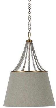 Gabby Sonny 1 - Light Single Cone Pendant with Wood Accents
