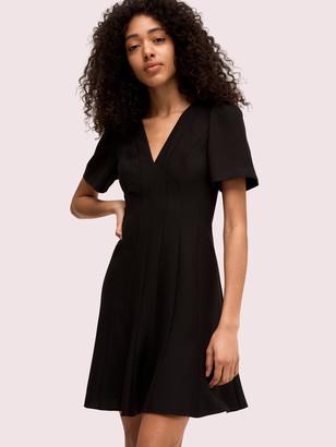 Kate Spade Paneled Crepe A-Line Dress