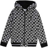 Givenchy Boy's 4-G Print Mini Me Hooded Zip-Front Cardigan, Size 12-14