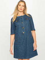 ELOQUII Plus Size Easy Denim Dress