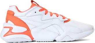 Puma White & Living Coral Nova X Pantone 2 Low-Top Sneakers