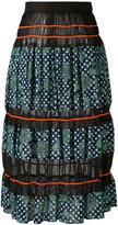 Kolor printed sheer panel skirt - women - Cotton/Tencel/Polyester - 2