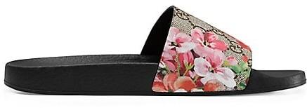 Gucci GG Blooms Supreme Slide Sandals
