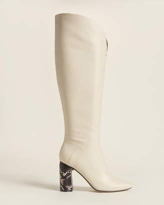 Sigerson Morrison Cream Barretta Tall Leather Boots