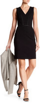 Tart Viera Faux Leather Trim Dress