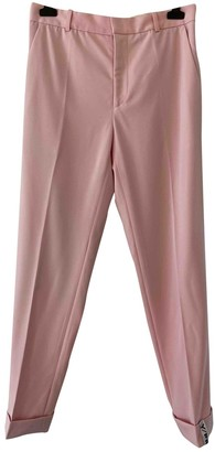 Y/Project Pink Wool Trousers for Women