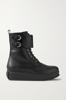 Salvatore Ferragamo Karin Leather Ankle Boots - Black