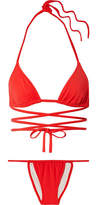 Solid & Striped The Hannah Wrap Bikini - Red