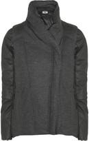 Helmut Lang HELMUT Sonar convertible wool-felt and cotton-blend jacket
