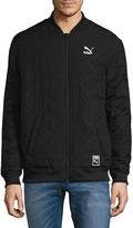 Puma Men's Reversable Bomber Jacket - Black, Size xx-large